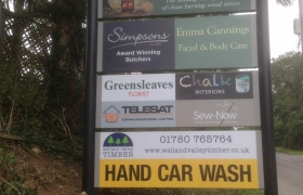 The-Stamford-Garden-Centre-Cafe-Barker-Sign-Services-On-Post-Signs-3